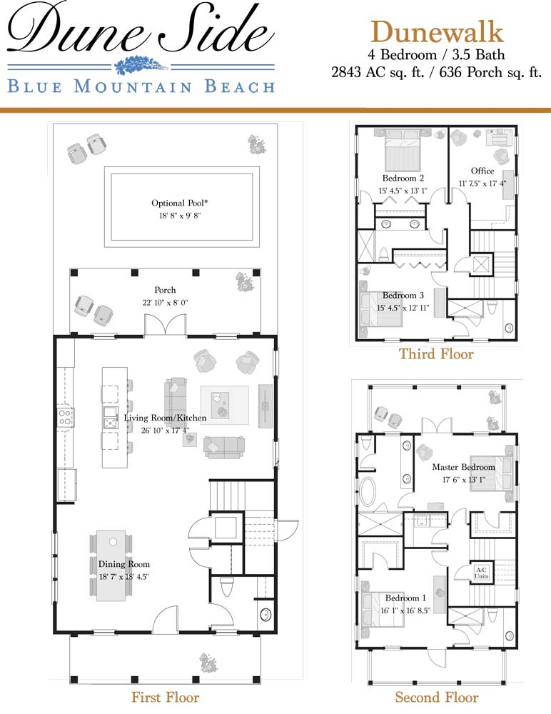Dune side blue mountain beach homes for sale dunewalk plan 1 dunewalk plan 2 malvernweather Choice Image